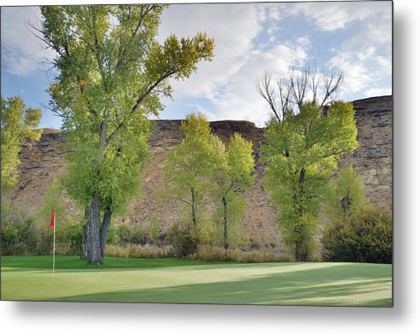 15th Green Morning Metal Print