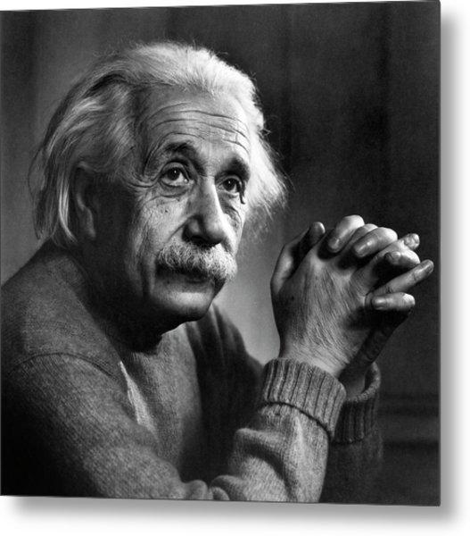 Albert Einstein Metal Print by Emilio Segre Visual Archives/american Institute Of Physics