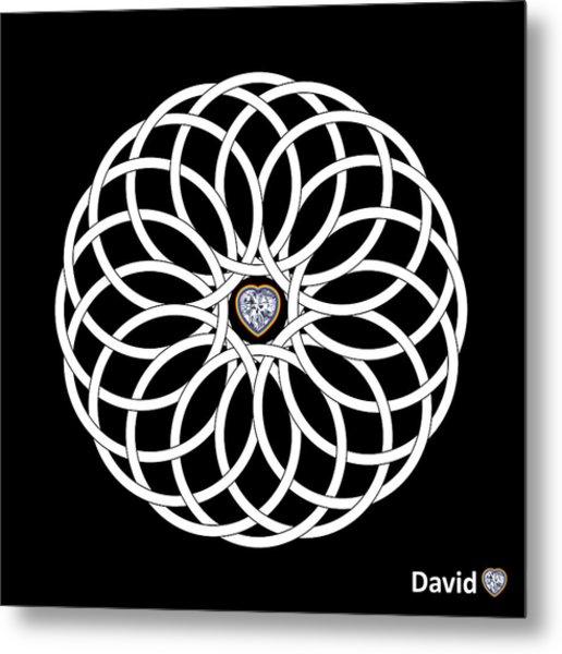 16 Circles Metal Print by David Diamondheart