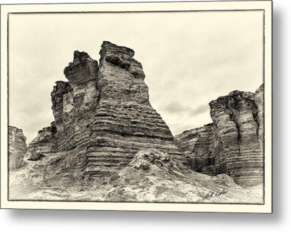 Monument Rocks - Chalk Pyramids Metal Print