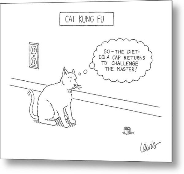 Cat Kung Fu Metal Print