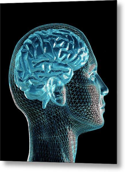 Brain Metal Print by Pasieka