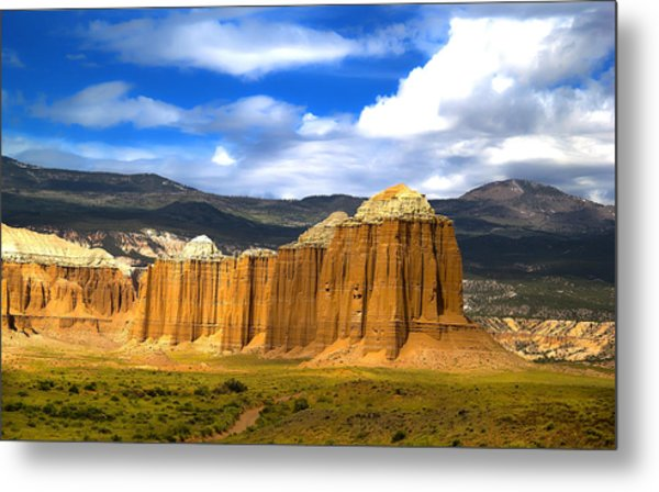 Capitol Reef National  Park Cathedral Valley Metal Print