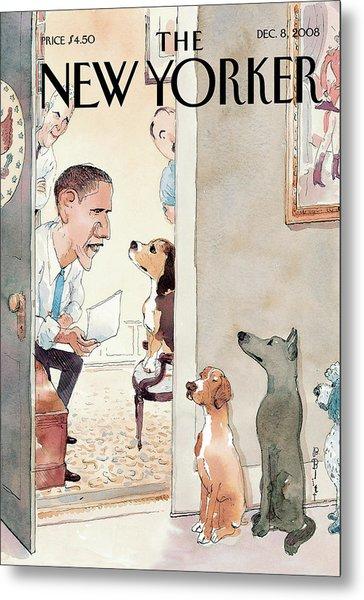 New Yorker December 8th, 2008 Metal Print by Barry Blitt