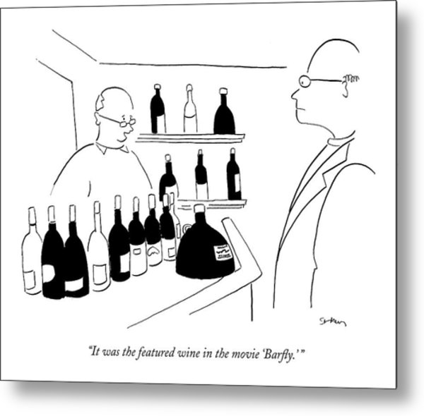 It Was The Featured Wine In The Movie 'barfly.' Metal Print