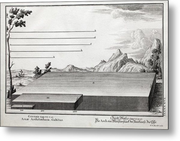 1731 Cubit Measurement Scale Noah's Ark Metal Print
