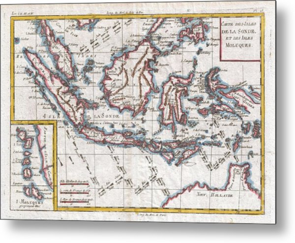 Old world map art page 24 of 56 fine art america 1780 raynal and bonne map of the east indies singapore java sumatra borneo metal print gumiabroncs Images