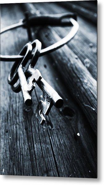 17th Centure House Keys Metal Print