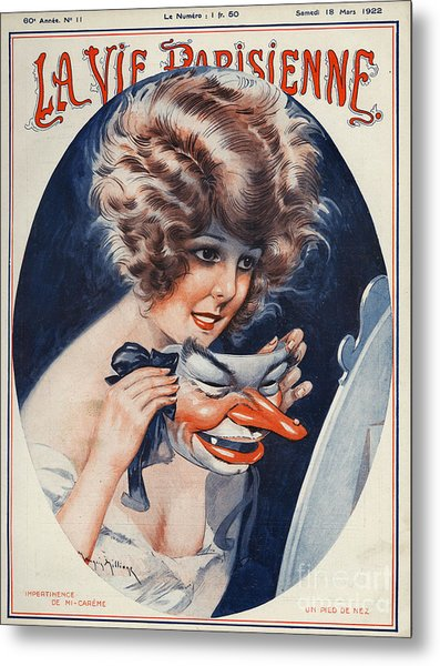 La Vie Parisienne  1922 1920s France Metal Print by The Advertising Archives