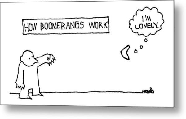 How Boomerangs Work Metal Print