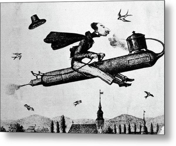 1840s 1800s Illustration Cartoon Of Man Metal Print