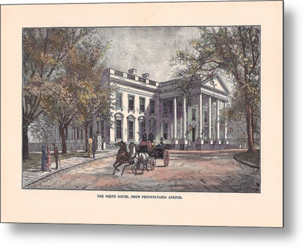 1870's White House Metal Print by Charles Somerville