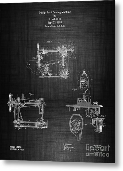 1885 Singer Sewing Machine Metal Print