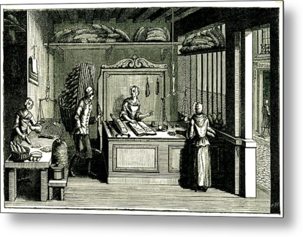 18th Century Bakery Metal Print by Collection Abecasis/science Photo Library