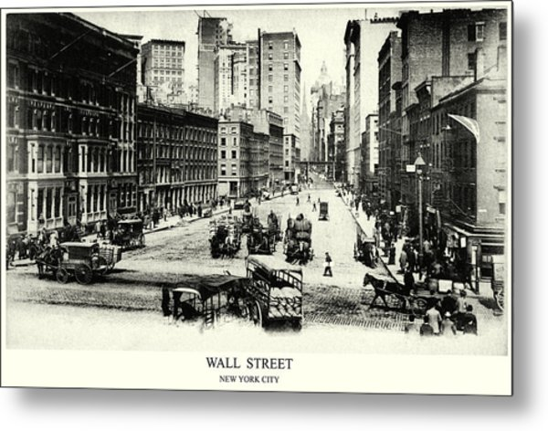 1900 Wall Street New York City Metal Print