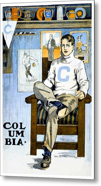 1902 - Columbia University Sports Poster - Color Metal Print