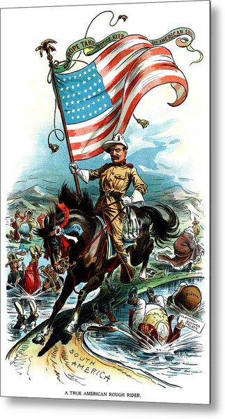 1902 Rough Rider Teddy Roosevelt Metal Print