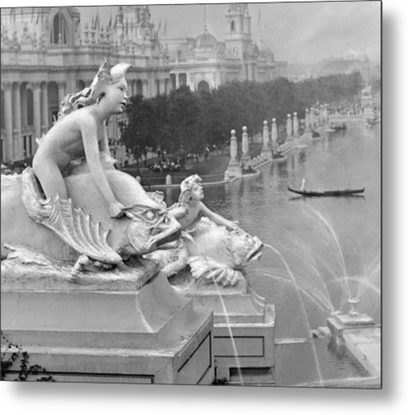 1904 World's Fair Fisheries Sculptures Vintage Photograph Metal Print