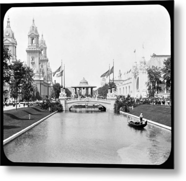 1904 Worlds Fair Lagoon And Electricity Building Metal Print
