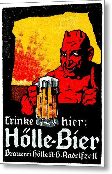 1905 German Beer Poster Metal Print