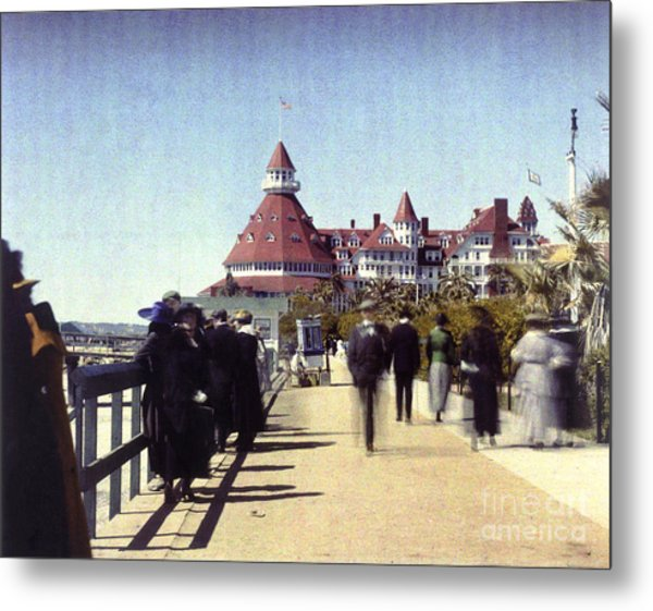 1906 Del Boardwalk Metal Print