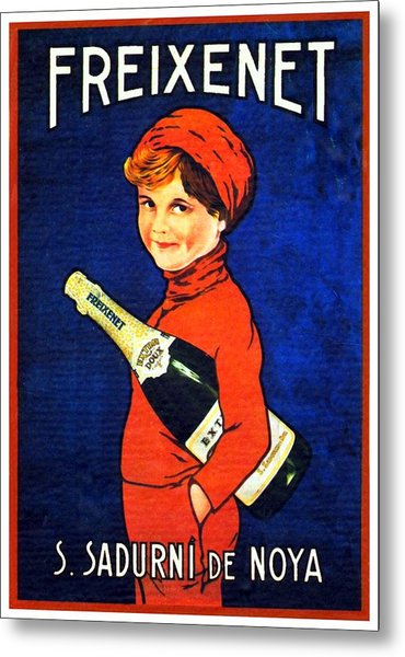 1920 - Freixenet Wines - Advertisement Poster - Color Metal Print