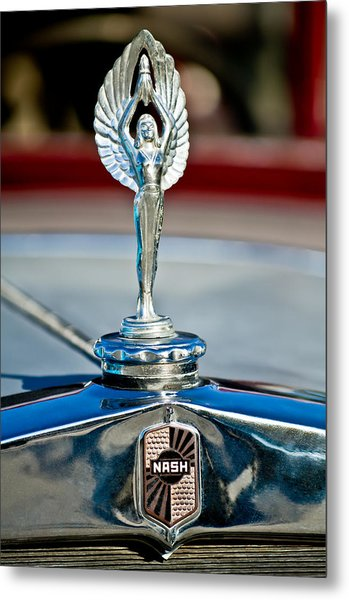 1928 Nash Coupe Hood Ornament 2 Metal Print