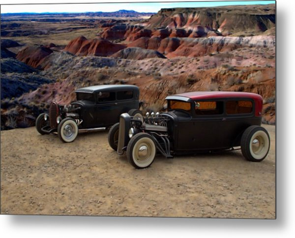 1930 And 1931 Ford Sedan Rat Rods Metal Print