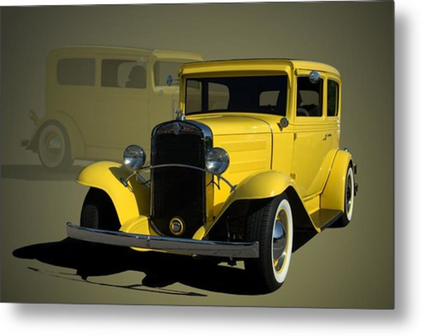 1931 Chevrolet Sedan Hot Rod Metal Print
