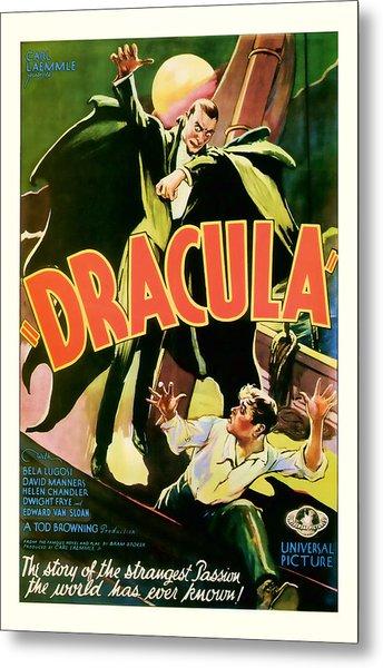 1931 Dracula Vintage Movie Art Metal Print