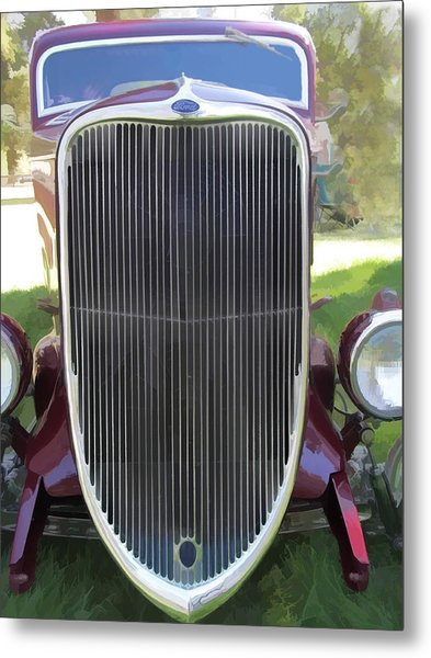 1933 Ford Grille Metal Print