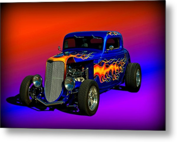 1933 Ford High Boy Hot Rod Metal Print