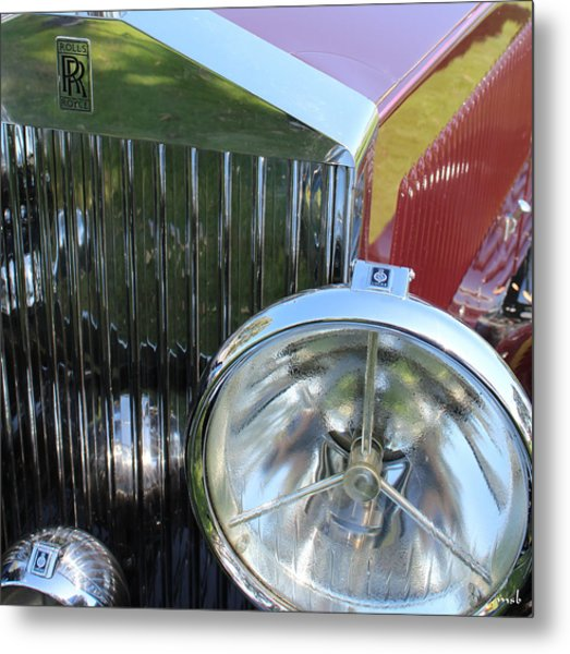 1933 Rolls Royce Phantom II Grille Metal Print by Mark Steven Burhart