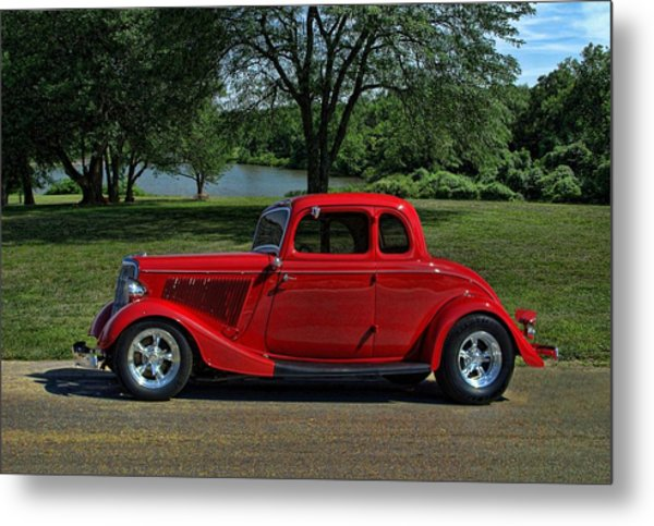 1934 Ford 5 Window Hot Rod Metal Print