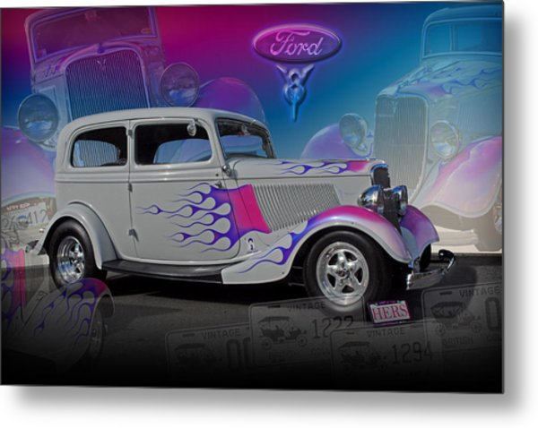 1934 Ford Delux Metal Print