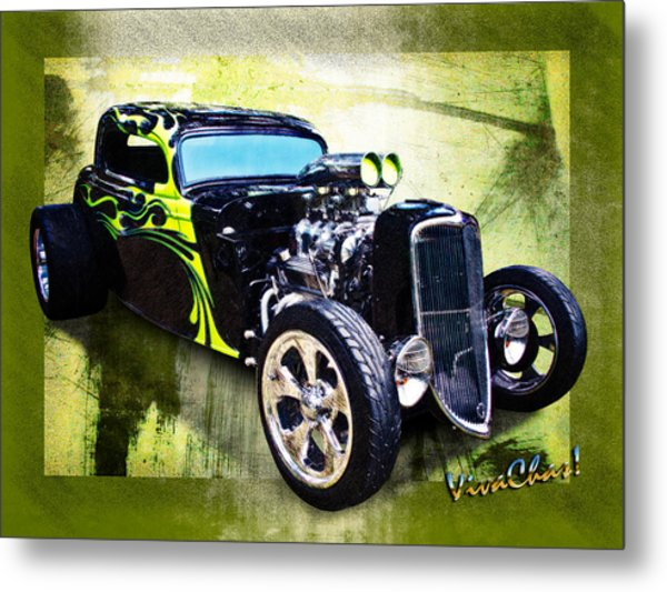 1934 Ford Three Window Coupe Hot Rod Metal Print