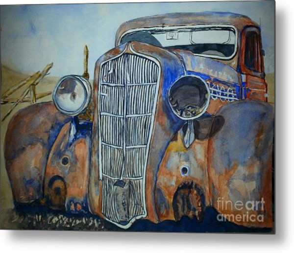 1935 Plymouth Coupe Metal Print by DJ Laughlin