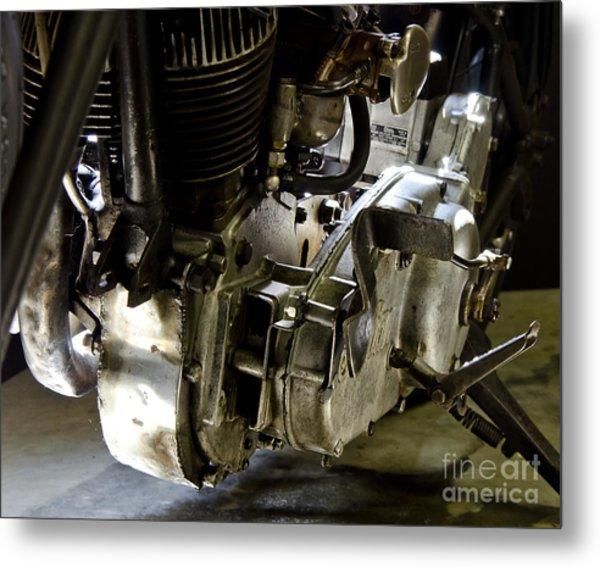 1936 Indian Flat Tracker Motorcycle Metal Print by Wilma  Birdwell