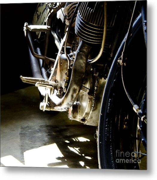 1936 Indian Tracker Racer Metal Print by Wilma  Birdwell