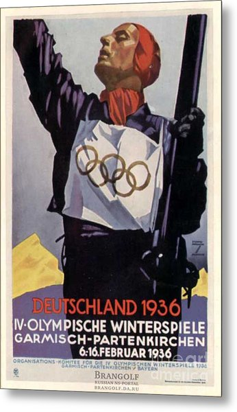 1936 Winter Olympics Metal Print by Unknown