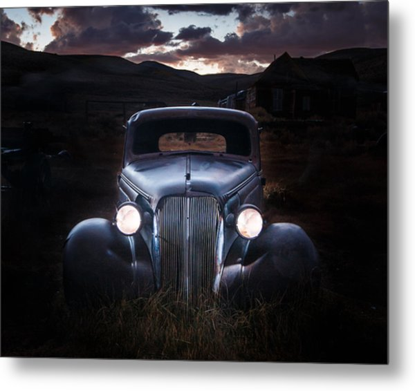 1937 Chevy At Dusk Metal Print