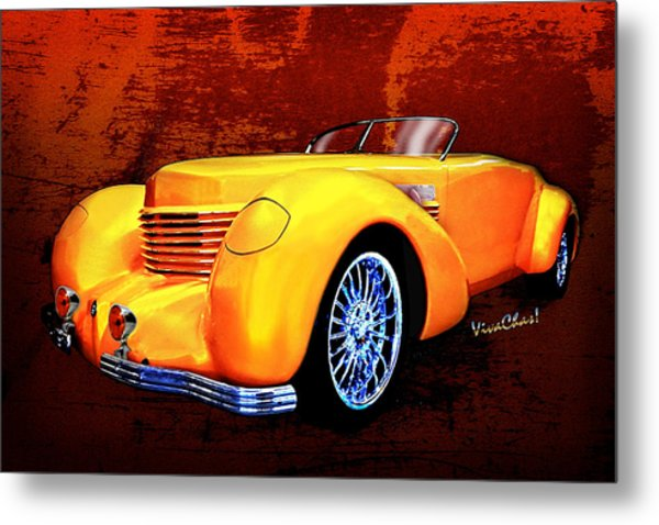 1937 Cord Coffin Nose Speedster Concours On Toast Metal Print