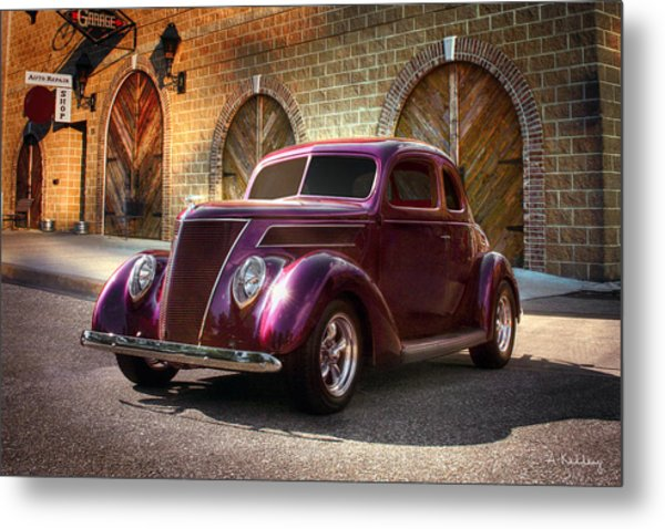 1937 Ford Metal Print by Andrea Kelley
