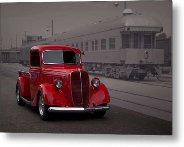 Metal Print featuring the photograph 1937 Ford Pickup Truck Hot Rod by Tim McCullough