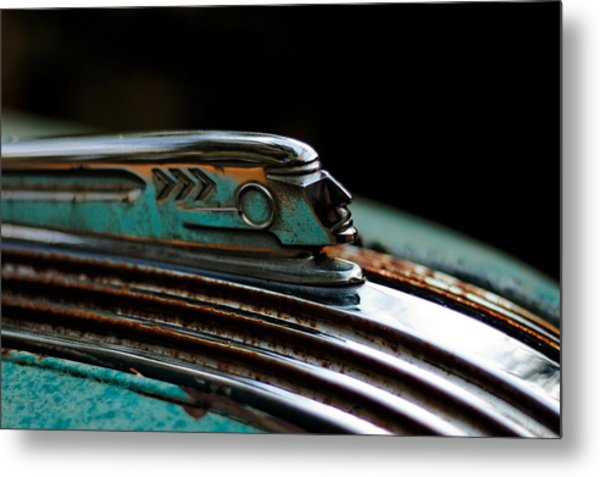 1937 Pontiac 224 Hood Ornament Metal Print