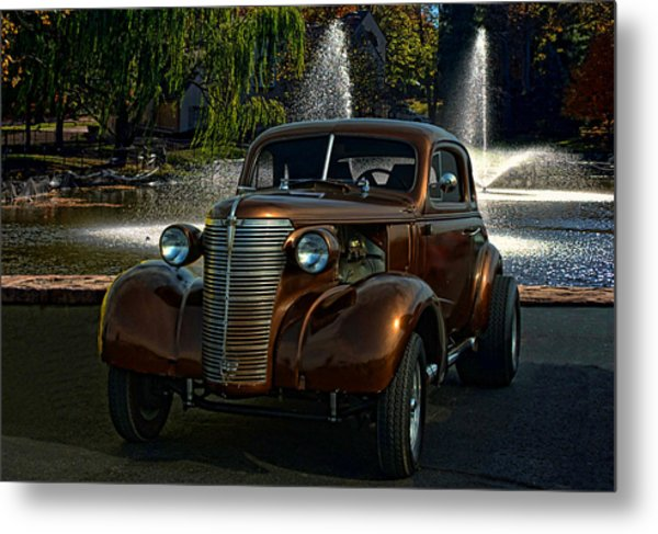 1938 Chevrolet Coupe Street Dragster Metal Print