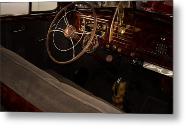 1938 Chevrolet Interior Metal Print