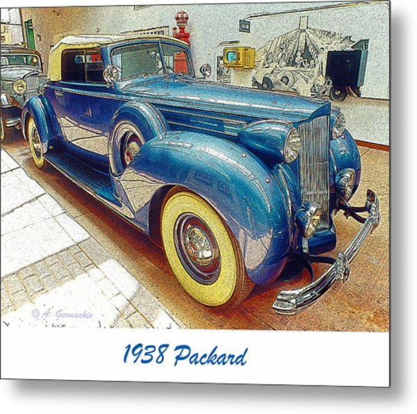 1938 Packard National Automobile Museum Reno Nevada Metal Print by A Gurmankin