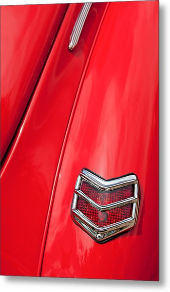 1940 Ford Deluxe Coupe Taillight Metal Print