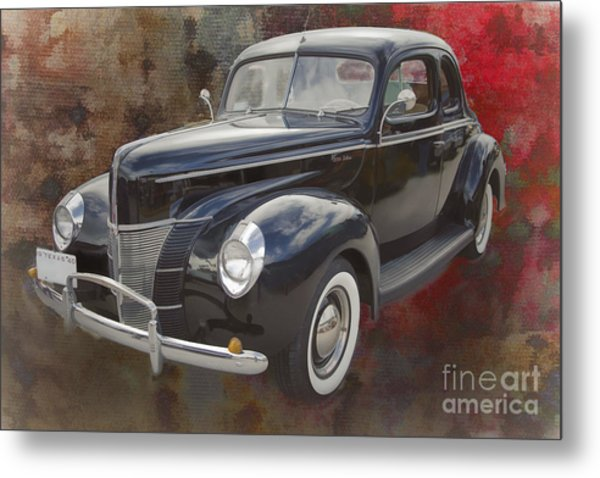 1940 Ford Deluxe Photograph Of Classic Car Painting In Color 319 Metal Print